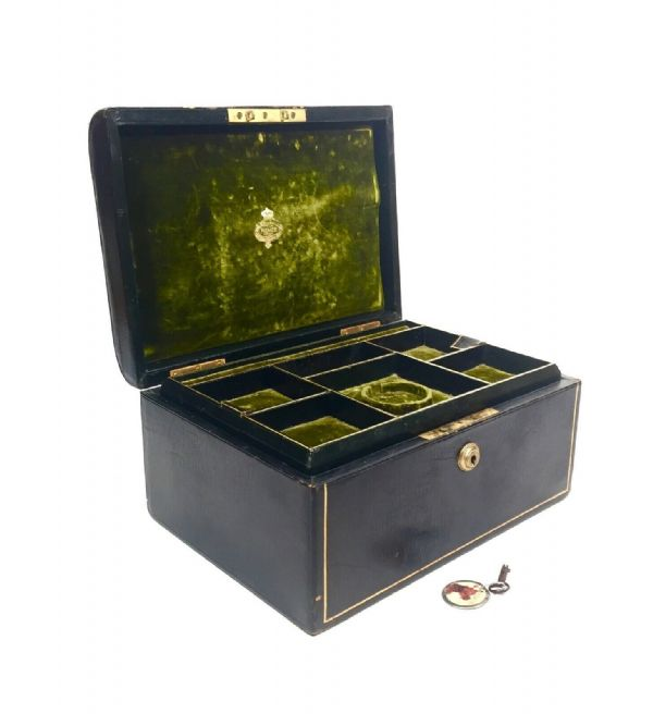 Antique Victorian Ladies Jewellery Box / Bag By Samuel Fisher, 188 Stand London